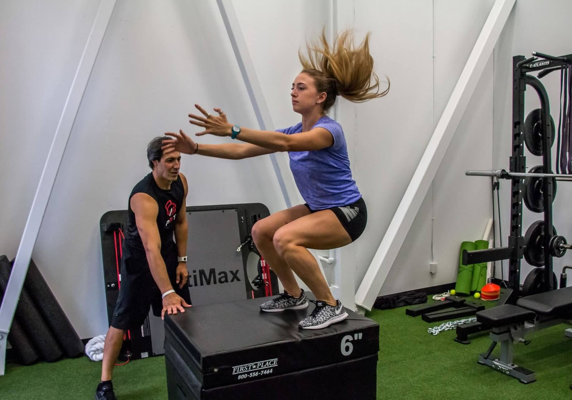 Our Programs - Athlete Development Program OR Our Principals - Jump Hop Bound (Box Jump) -