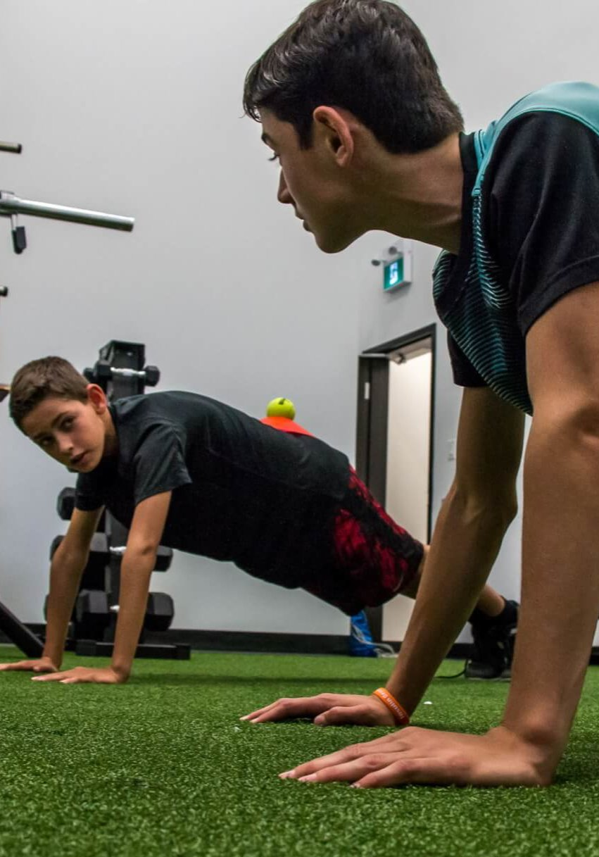 Our Programs - Youth and Teen Functional Training (Front Plank - Group)